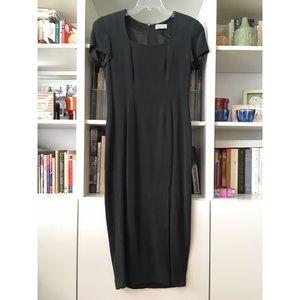 Papell Too silk slit sheath dress, size 8